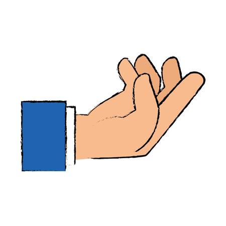Menselijke hand vangen pictogram vector illustratie ontwerp Stockfoto - 86641109