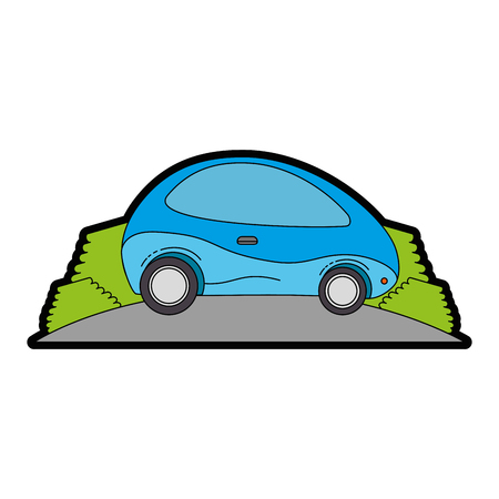 modern car futuristic in the road vector illustration design Ilustração