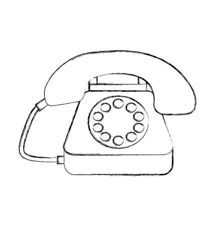 고객 서비스 전화 콜 센터 벡터 일러스트 레이션 일러스트