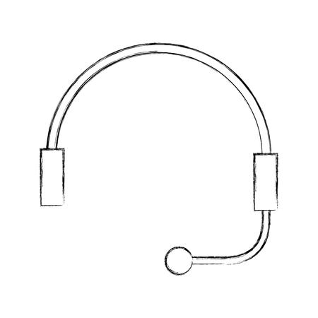 Auricular para soporte o servicio al cliente ilustración vectorial Foto de archivo - 86641166