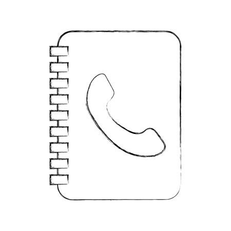 address book contac client communication vector illustration Ilustrace