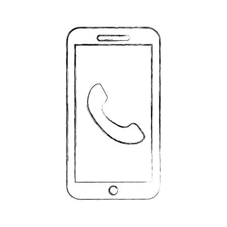 smartphone customer service online app assistance vector illustration