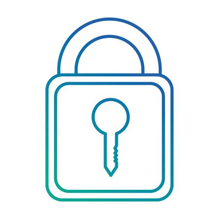 safe padlock isolated icon vector illustration design Иллюстрация