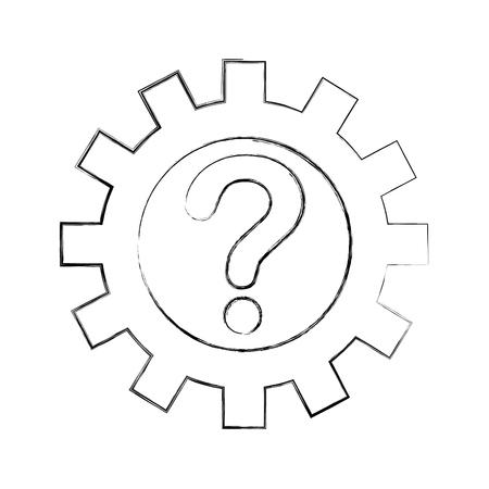 customer service solution answer assitance vector illustration Ilustrace