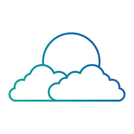 태양 벡터 일러스트 디자인으로 구름 하늘