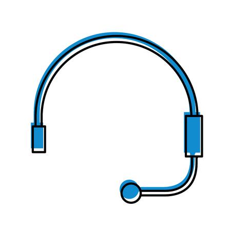Auricular para soporte o servicio al cliente ilustración vectorial Foto de archivo - 86641195