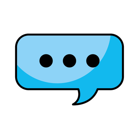 speech bubble chat message service support vector illustration