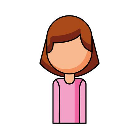 肖像画女性社員コール センター作業ベクトル図  イラスト・ベクター素材