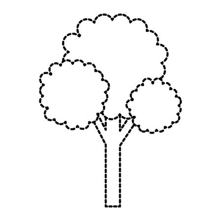 木植物ピクセル アイコン ベクトル イラスト デザイン  イラスト・ベクター素材