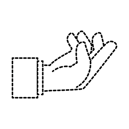 human hand catching icon vector illustration design Illusztráció