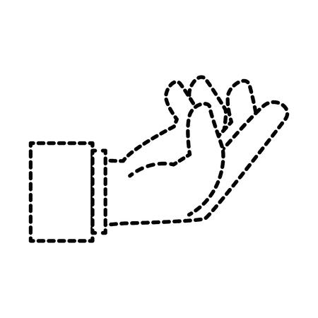 Menselijke hand vangen pictogram vector illustratie ontwerp Stockfoto - 86641250