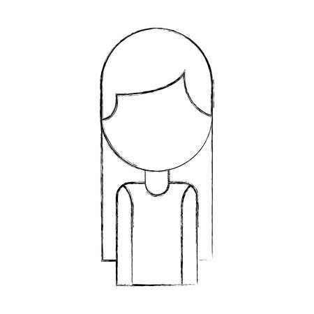 portrait female employee call center work vector illustration