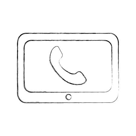 기술 고객 서비스 전화 도움말 온라인 벡터 일러스트 레이션