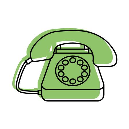 ilustración de vector de centro de llamadas de teléfono de clientes