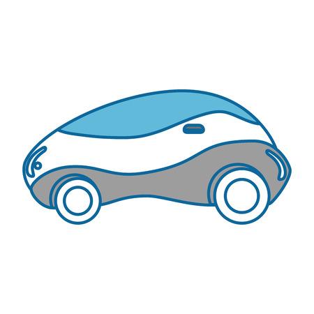 現代車未来のアイコン ベクトル イラスト デザイン