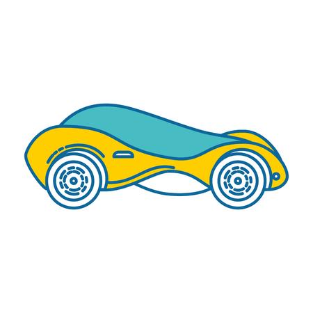 현대 자동차 미래의 아이콘 벡터 일러스트 레이 션 디자인 일러스트