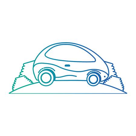 현대 자동차도 미래의 벡터 일러스트 레이 션 디자인 일러스트