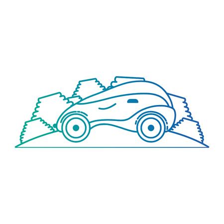 modern car futuristic in the road vector illustration design Ilustração