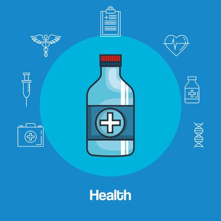 health medicine set icons vector illustration design