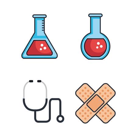 Health medicine set icons vector illustration design.