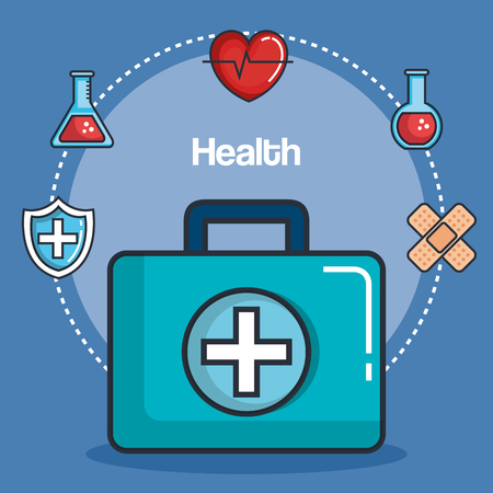 health medicine set icons vector illustration design