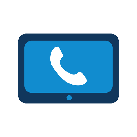 technology customer service phone help online vector illustration Illusztráció