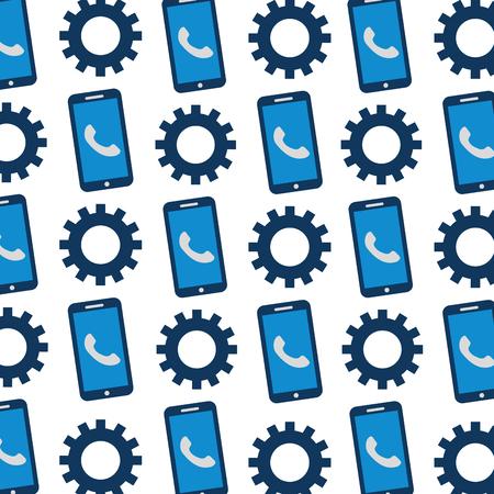 customer service online app and solution work vector illustration