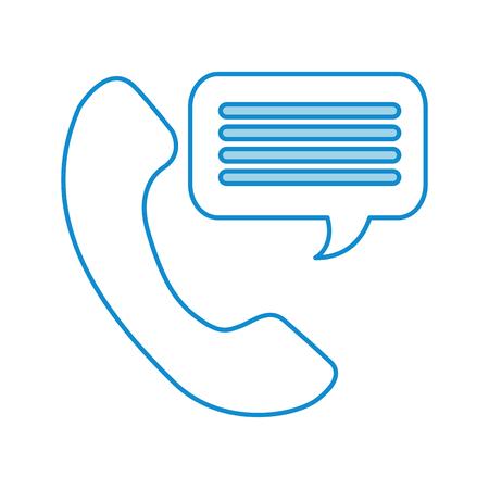 customer service phone bubble speech talking vector illustration Illustration