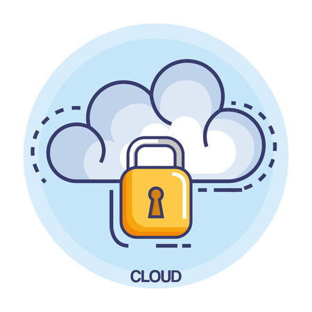 cloud computing set flat icons vector illustration design