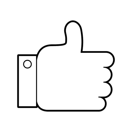 business hand man like approval vector illustration Illustration