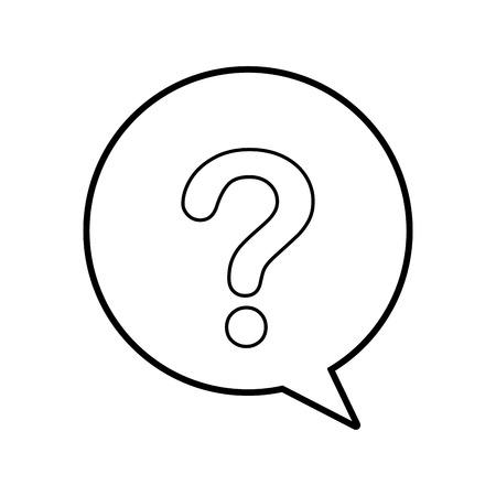 customer service speech bubble question communication vector illustration