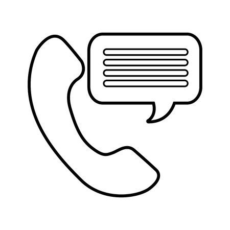 customer service phone bubble speech talking vector illustration Ilustração