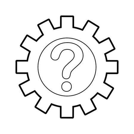 customer service solution question assitance vector illustration