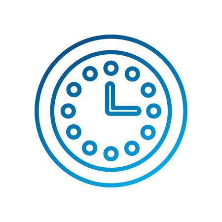 clock hours customer service assistance icon vector illustration