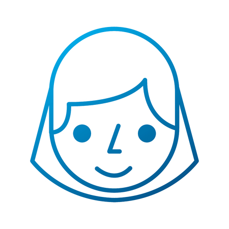 cartoon woman face smile employee vector illustration