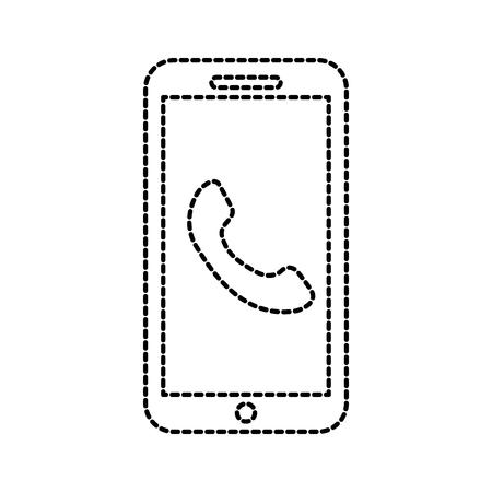 smartphone klantenservice online help bijstand vectorillustratie