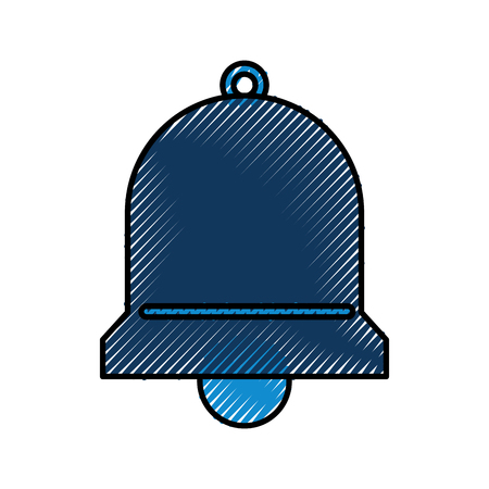 bell service assitance alarm support vector illustration