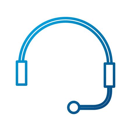 Auricular para soporte o servicio al cliente ilustración vectorial Foto de archivo - 86641862