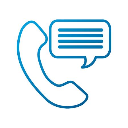 customer service phone bubble speech talking vector illustration Ilustrace