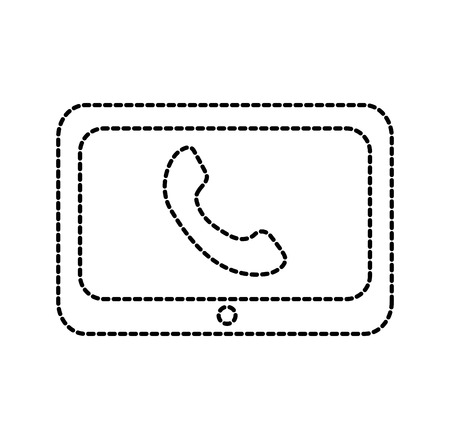technologie klantenservice telefoon help online vectorillustratie Stock Illustratie