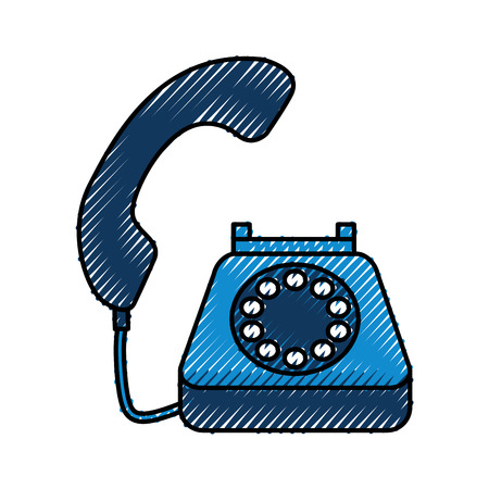 phone customer service call support vector illustration