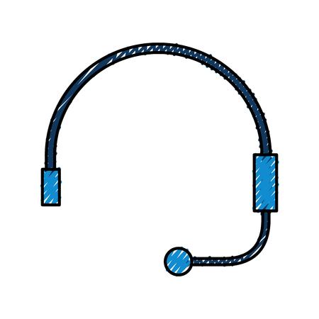 Auricular para soporte o servicio al cliente ilustración vectorial Foto de archivo - 86641919
