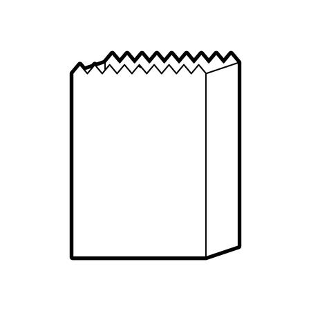 Papiertüte Bäckerei leer einkaufen Element Vektor-Illustration Standard-Bild - 86641937