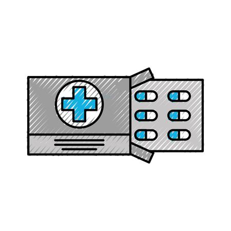 Drug problème médicale vaccin de médicament pour la chirurgie des comprimés antibiotique illustration vectorielle Banque d'images - 86947867