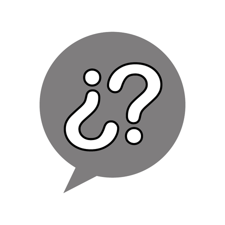 customer service speech bubble question communication vector illustration