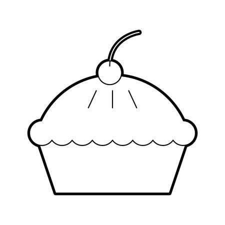 cake cherry dessert pastry product food fresh vector illustration