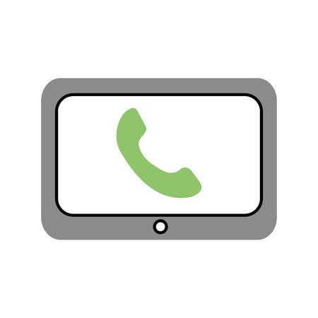 技術カスタマー サービス電話ヘルプ オンライン ベクトル図  イラスト・ベクター素材