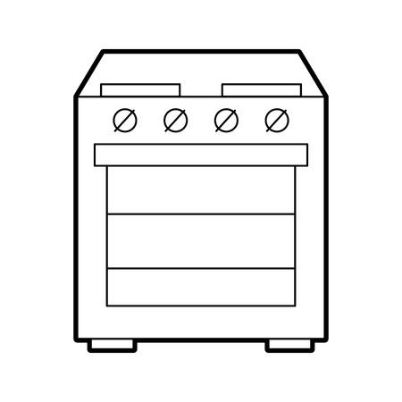 applicance oven kitchen electric machine image vector illustration Zdjęcie Seryjne - 86642011