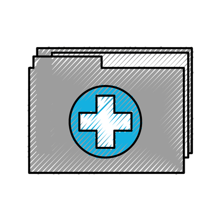 medical health record folder for wellness vector illustration