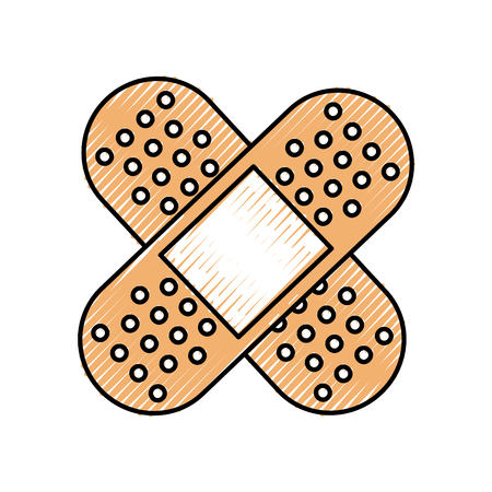 bandage medical of cross type icon vector illustration Ilustração
